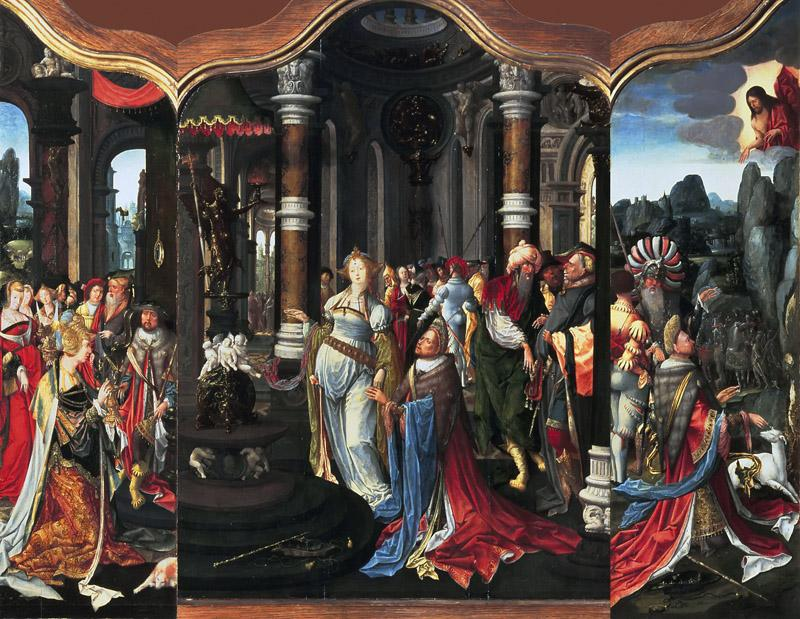 Master of the Salomon triptych - Triptych with the Life Story of Solomon