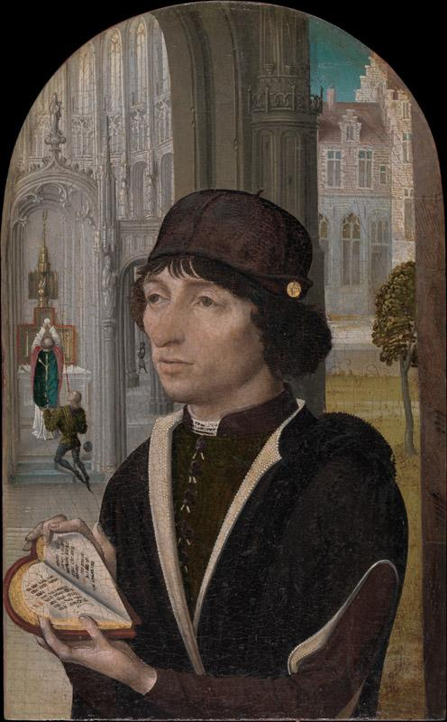 Master of the View of Sainte Gudule--Young Man Holding a Book
