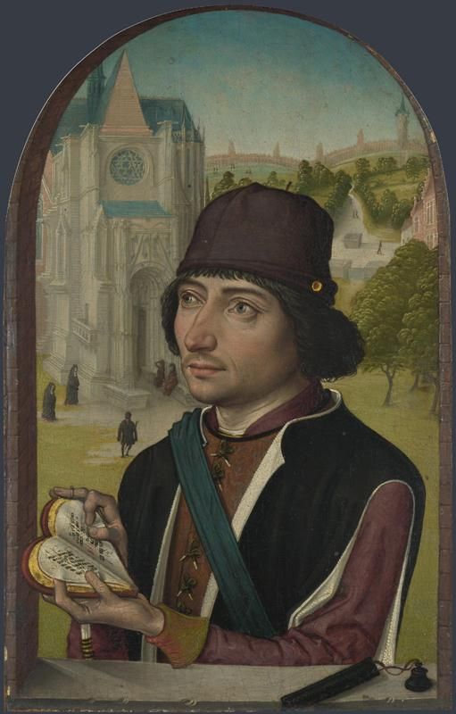 Master of the View of St Gudula - Portrait of a Young Man