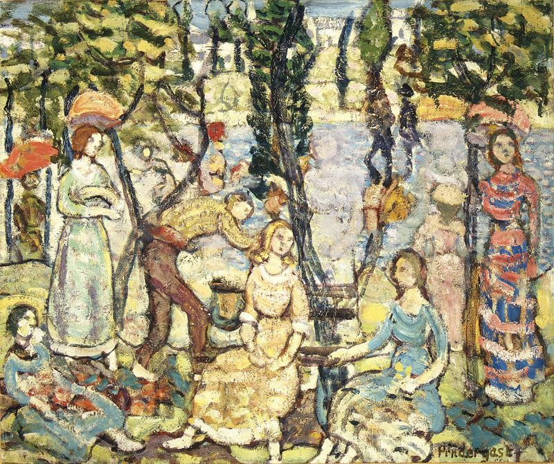 Maurice Brazil Prendergast--Group of Figures