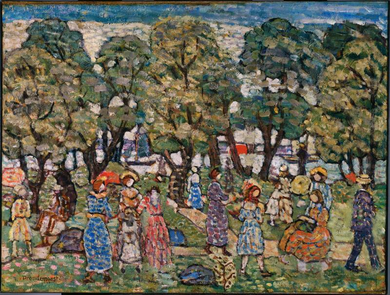 Maurice Prendergast (1861-1924)-Under the Trees