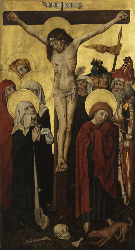 Meester van de Strauss-Madonna - The crucifixion D