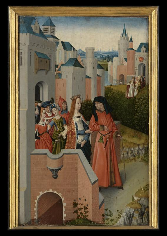 Meester van de Ursulalegende - The Legend of Saint Ursula, the Church and the Synagogue d05