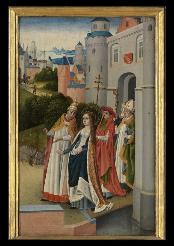 Meester van de Ursulalegende - The Legend of Saint Ursula, the Church and the Synagogue d06