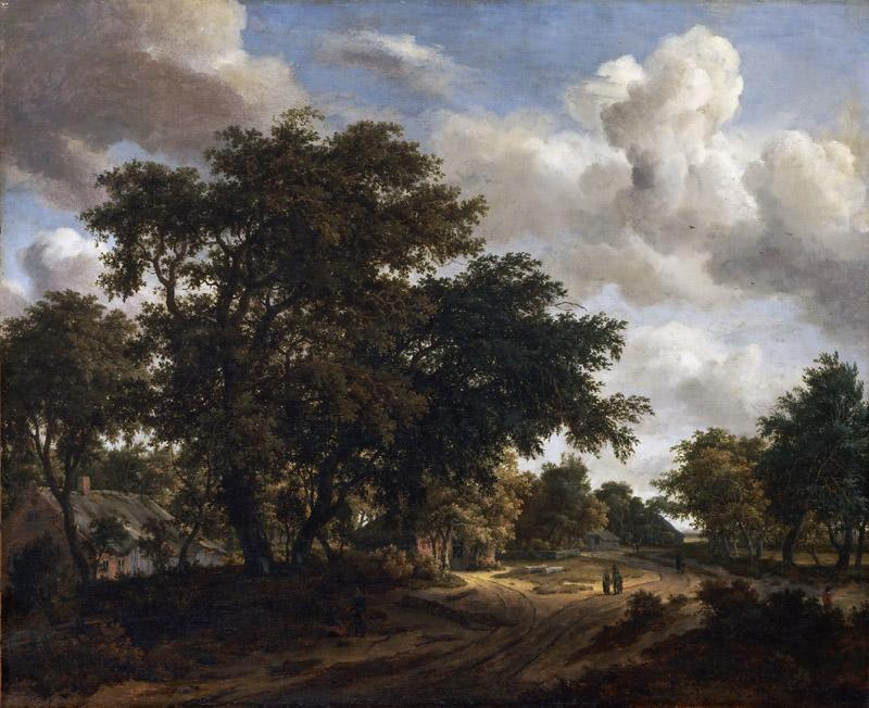 Meindert Hobbema, Dutch (active Amsterdam), 1638-1709 -- Landscape with a Wooded Road