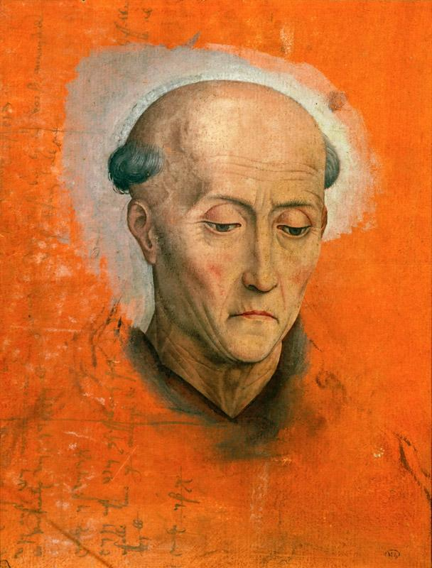 Memling, Hans -- Study for the head of Saint Benedict painted for the altar of the Morel family