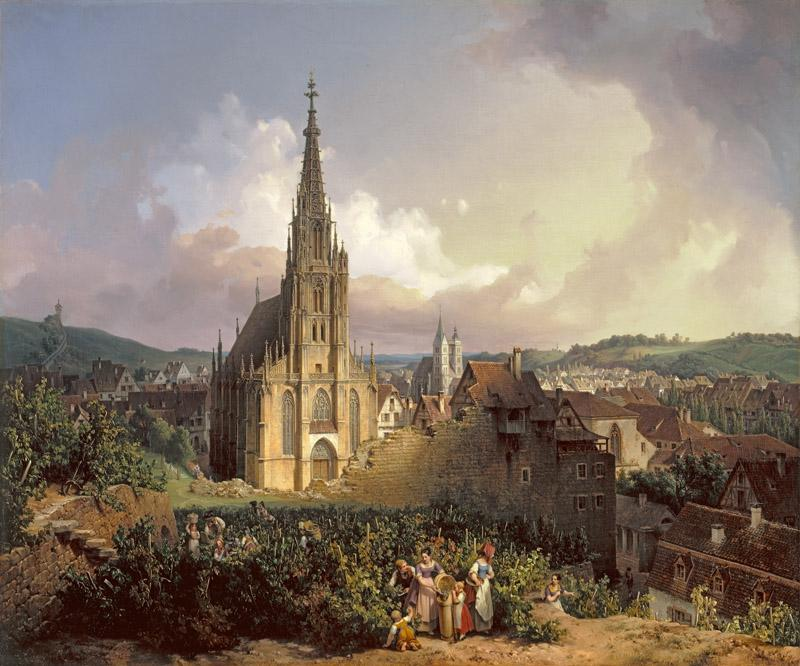 Michael Neher - The Church of Our Lady in Esslingen, 1847