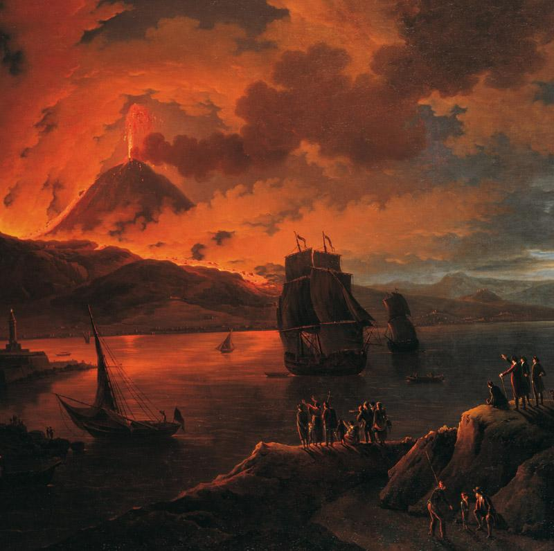 Michael Wutky - The Eruption of Vesuvius Seen from across the Bay of Naples, 17901800