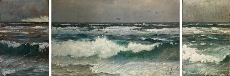 Michael Ancher - Breakers on the coast