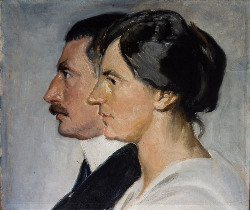 Michael Ancher - King Christian X and Queen Alexandrine of Denmark