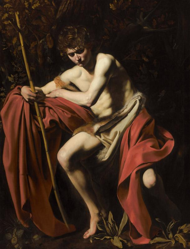Michelangelo Merisi (Caravaggio) - Saint John the Baptist in the Wilderness, 1604-1605