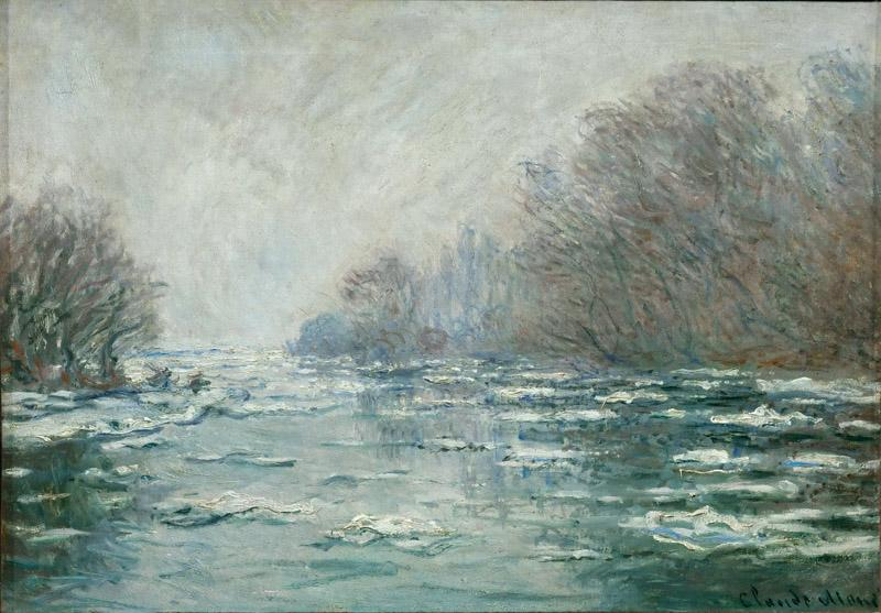 Monet, Claude -- La debacle pres de Vetheuil-The ice breaking near Vertheuil