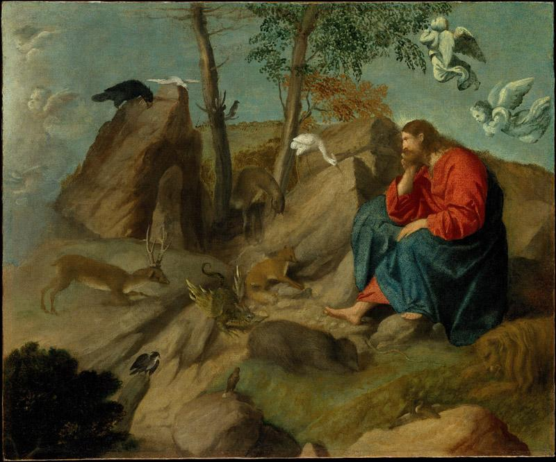 Moretto da Brescia--Christ in the Wilderness
