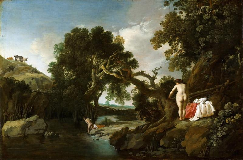 Moyses van Wtenbrouck - Wooded Pool with Salmacis and Hermaphroditus