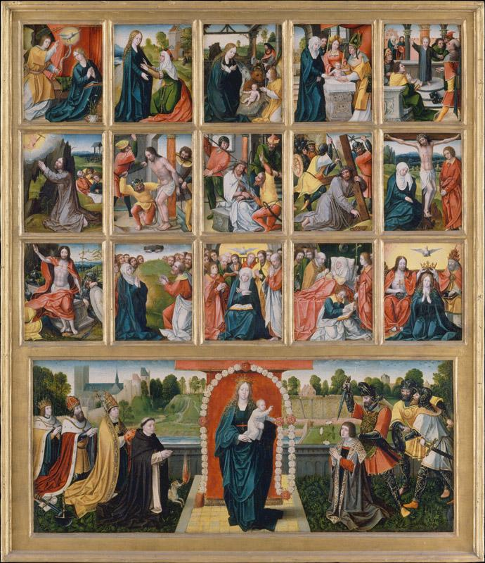 Netherlandish Painter--The Fifteen Mysteries and the Virgin of the Rosary