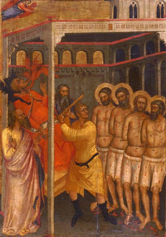 Niccolo di Pietro Gerini, Italian (active Florence), first documented 1368, died 1415 -- The Scourging of the Four Crowned Martyrs