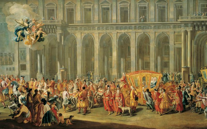 Nicola Maria Rossi - Excursion of the Viceroy of Naples, Aloys Thomas Count Harrach, from the Pal