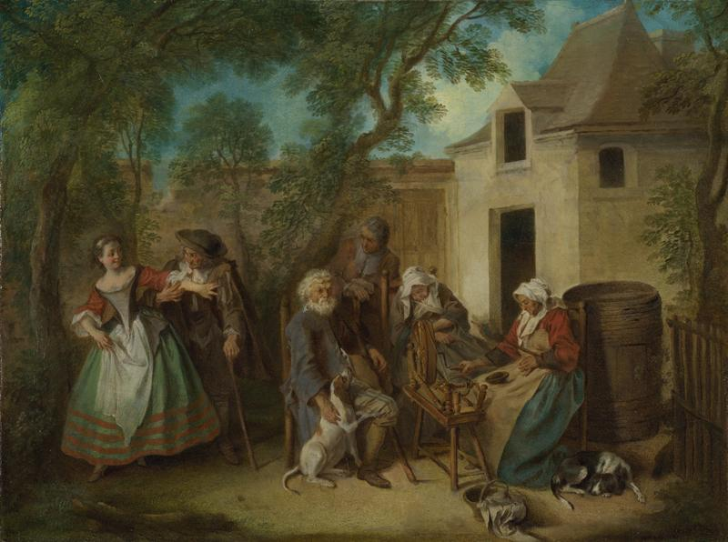 Nicolas Lancret - The Four Ages of Man - Old Age