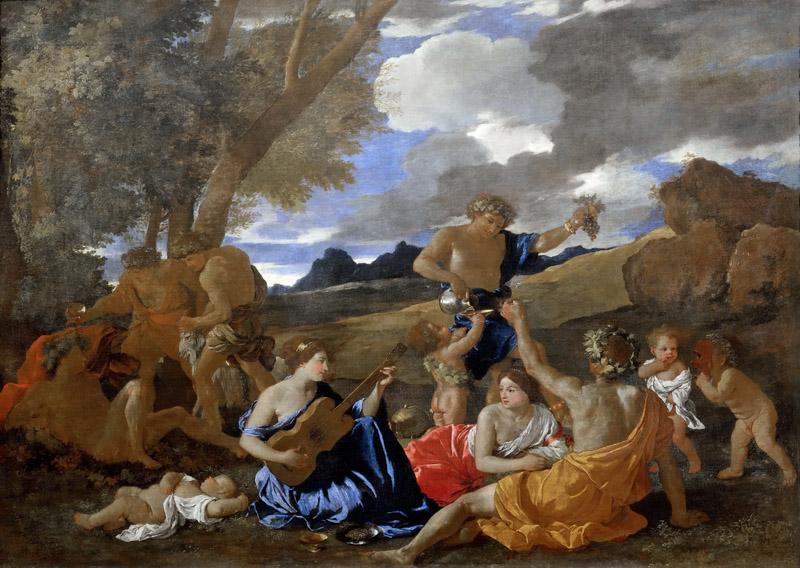 Nicolas Poussin -- Bacchanal with the Guitar Player