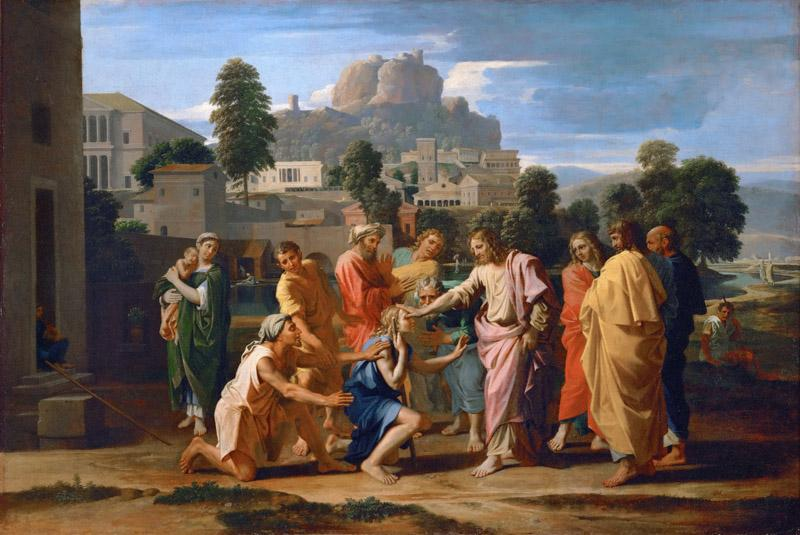 Nicolas Poussin -- Christ Healing the Blind of Jericho