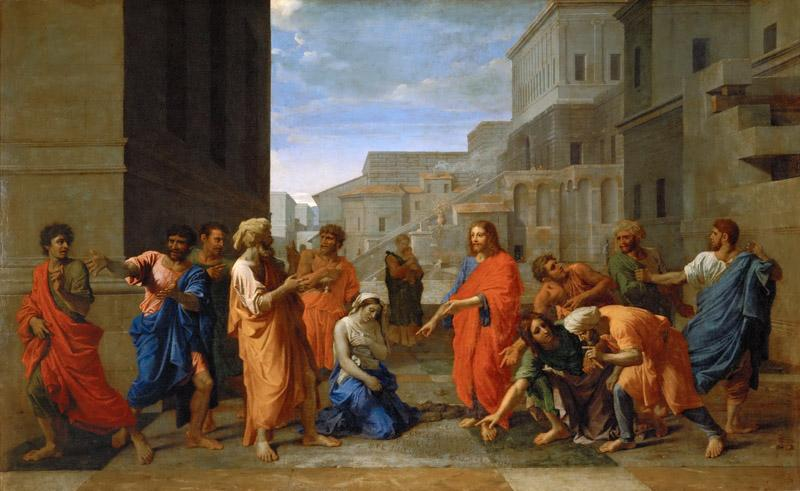 Nicolas Poussin -- Christ and the Adulteress