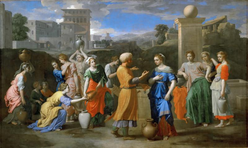 Nicolas Poussin -- Eleazer and Rebecca at the Well
