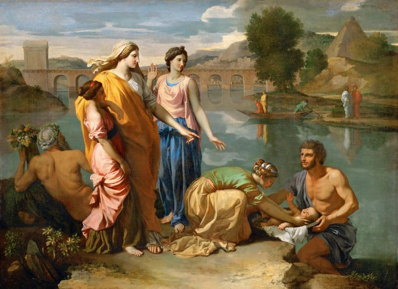 Nicolas Poussin -- Moses Saved from the Waters of the Nile