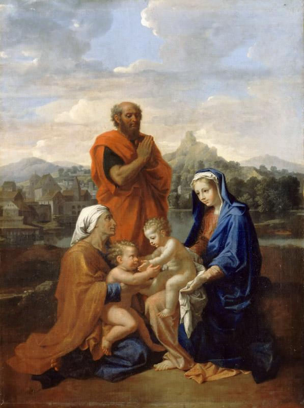 Nicolas Poussin -- The Holy Family with Saint John, Saint Elizabeth