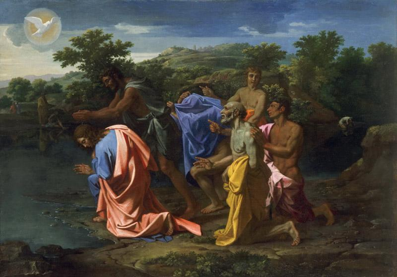 Nicolas Poussin, French, 1594-1665 -- The Baptism of Christ