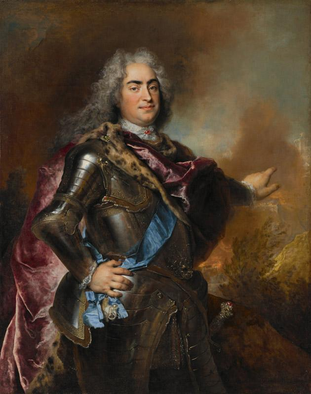 Nicolas de Largilliere - he Strong, Elector of Saxony and King of Poland, ca. 1714-1715