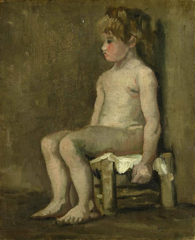 Nude Girl Seated