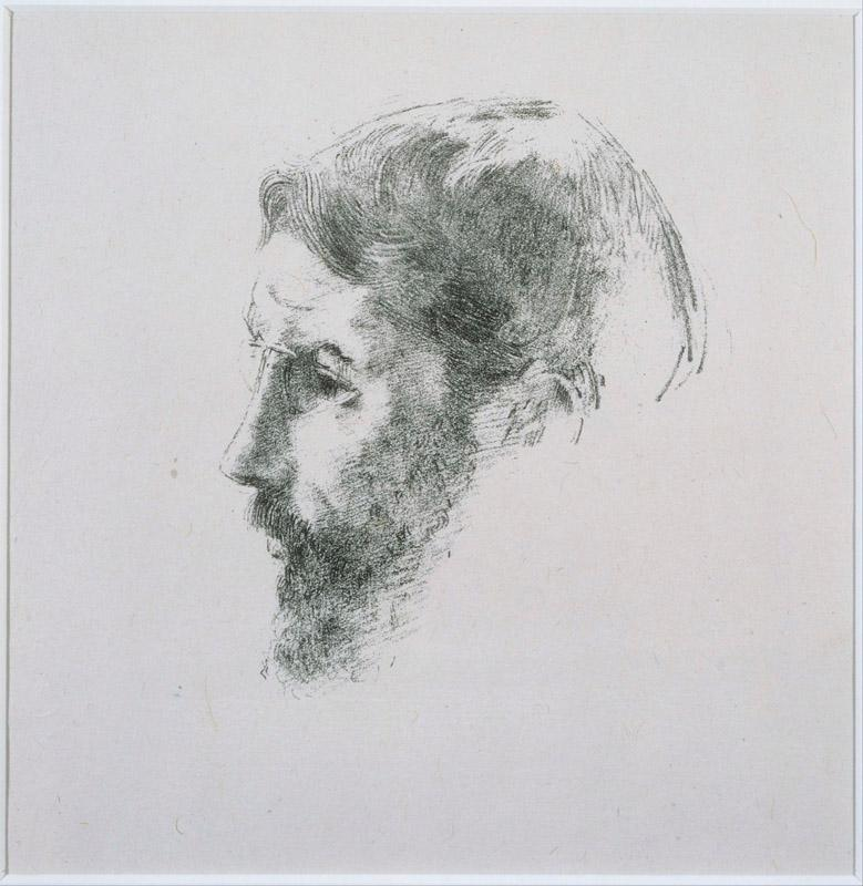 Odilon Redon (1840-1916)-Portrait of Bonnard (Artist Proof)