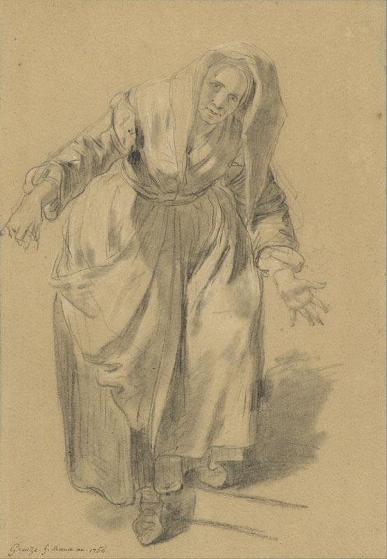 Old Woman with Arms Outstretched
