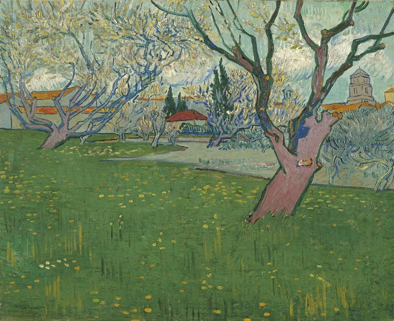 Orchards in blossom, view of Arles (April 1889 - 1889)