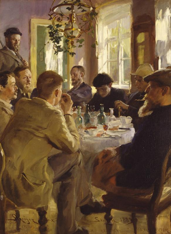 P.S. Kroyer - Artists luncheon at Brondum Hotel