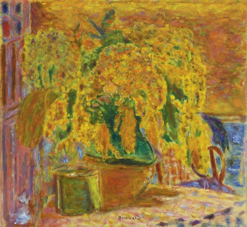 PIERRE BONNARD-BOUQUET DE MIMOSAS