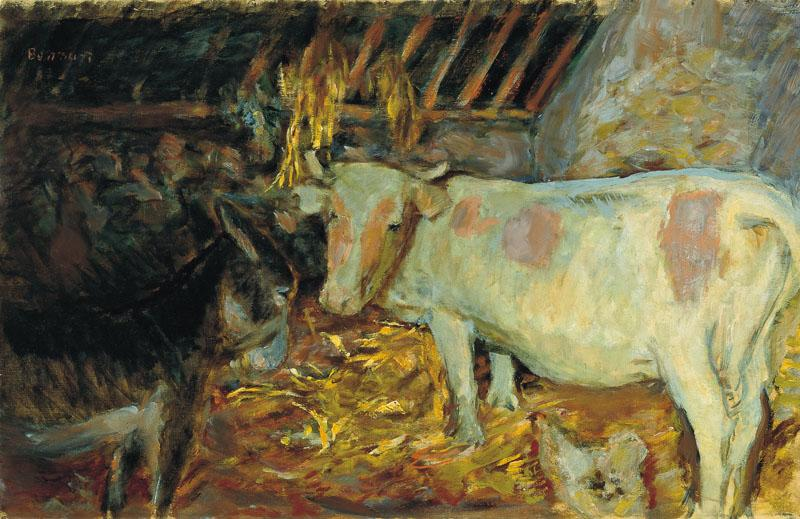 PIERRE BONNARD-The Barn (Cow in the Stable)