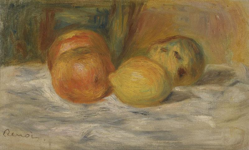PIERRE-AUGUSTE RENOIR-NATURE MORTE AU FRUITS