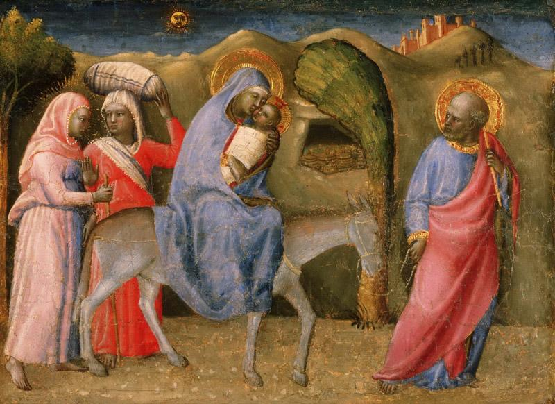 Paolo Schiavo (Paolo di Stefano Badaloni), Italian (active Florence and environs), 1397-1478 -- The Flight into Egypt