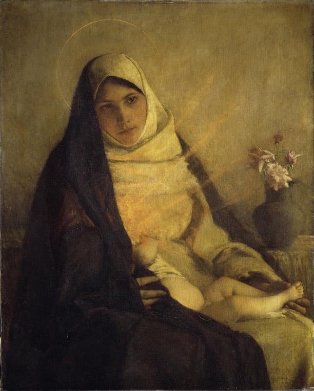 Pascal-Adolphe-Jean Dagnan-Bouveret--Madonna of the Rose