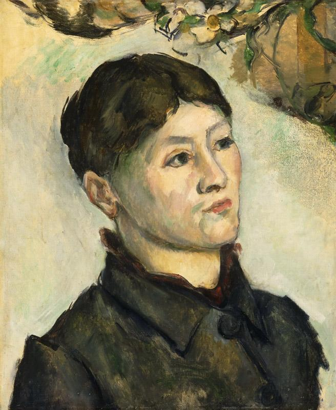 Paul Cezanne, French, 1839-1906 -- Portrait of Madame Cezanne