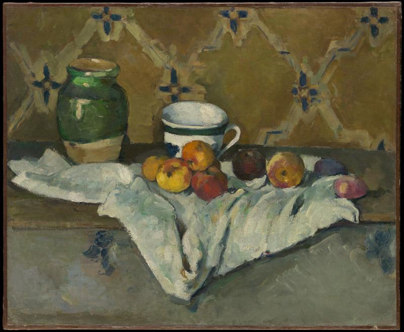 Paul Cezanne--Still Life with Jar, Cup, and Apples