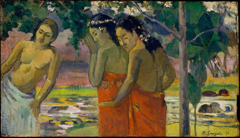 Paul Gauguin-- Three Tahitian Women