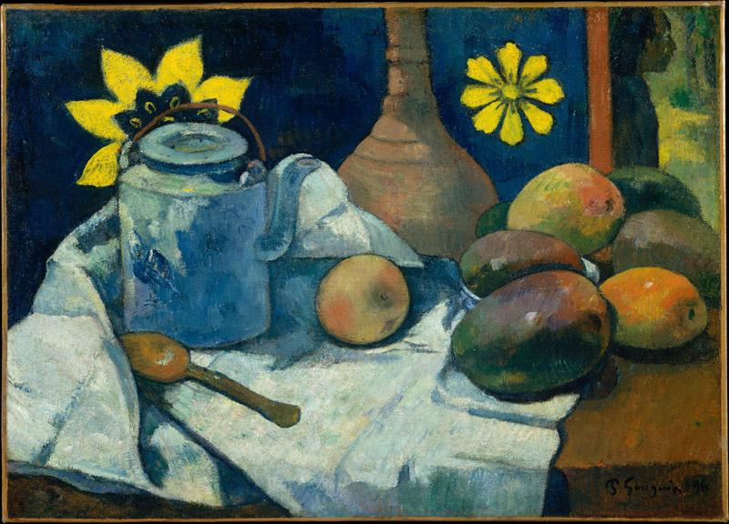 Paul Gauguin--Still Life with Teapot and Fruit
