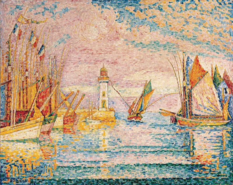 Paul Signac--Lighthouse at Groix