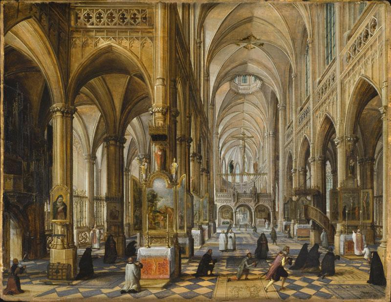 Paul Vredeman de Vries - Interior of Antwerp Cathedral