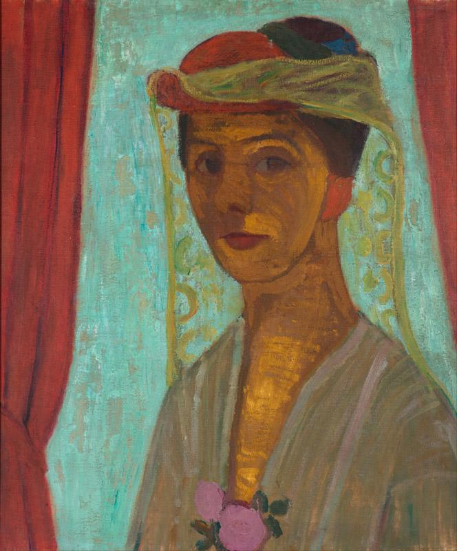 Paula Modersohn-Becker - Self-portrait with hat and veil