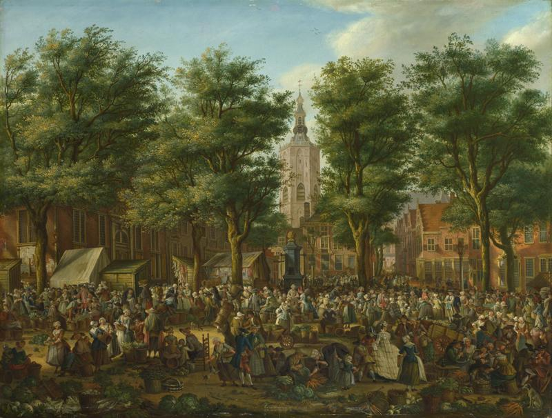 Paulus Constantijn La Fargue - The Grote Markt at The Hague