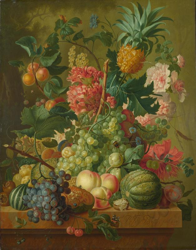 Paulus Theodorus van Brussel - Fruit and Flowers