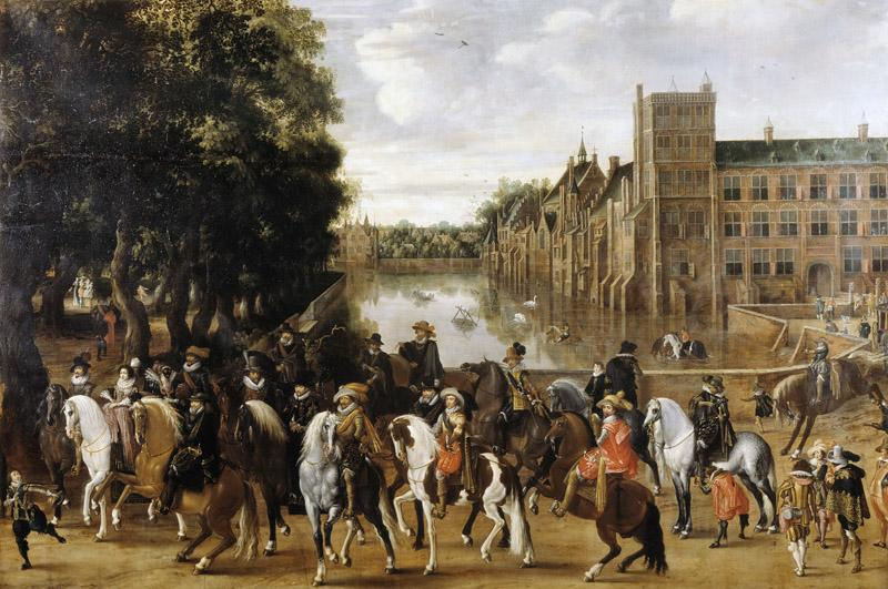 Pauwels van Hillegaert - The Princes of Orange and their Families on Horseback
